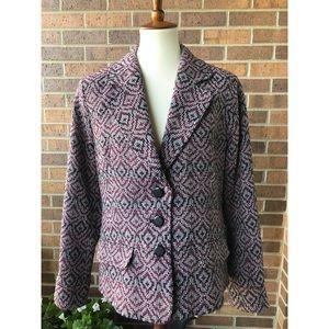 Pendleton Aztec Print 100% Wool Blazer